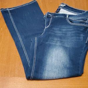 Maurice series short & sexy jeans sz 16 euc
